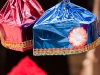 Festive Holi hats for sale, Varanasi