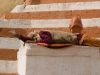 Sadhu sleeping by the Ganges, Varanasi.