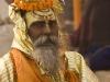 Golden clad Sadhu, Varanasi.