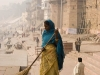 The Sisyphean task of sweeping up along the ghats in Varanasi.