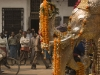 Jain or Buddhist (I couldn't tell which, but more likely Jain) procession through the streets of Varanasi.