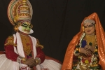 Kathakali, at temple in Varkala.