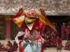 Masked performer during the festival at Labrang monastery, Xiahe.