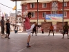 Playing the popular Southeast Asian game Takraw during Yaoshang.